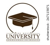 university and graduation... | Shutterstock .eps vector #267115871