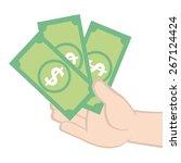 earn money | Shutterstock .eps vector #267124424