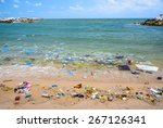 pollution on the beach of... | Shutterstock . vector #267126341