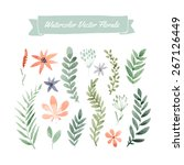 set of handpainted watercolor... | Shutterstock .eps vector #267126449