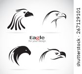 vector of an eagle head design... | Shutterstock .eps vector #267129101