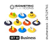 isometric flat icons  3d... | Shutterstock .eps vector #267129761