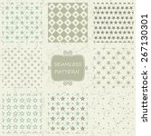 set of 8 retro abstract... | Shutterstock .eps vector #267130301
