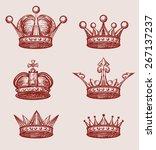 crown set   Shutterstock .eps vector #267137237