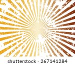 grunge sun sunburst pattern.... | Shutterstock .eps vector #267141284