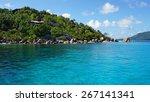 felicite island on the... | Shutterstock . vector #267141341