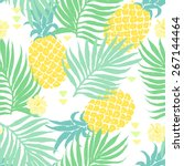 vector seamless tropical pattern | Shutterstock .eps vector #267144464
