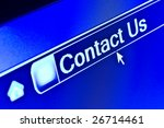 Internet browser concept for Contact Us webpage - stock photo