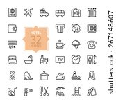 outline web icon set   hotel... | Shutterstock .eps vector #267148607