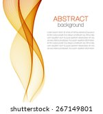 abstract background with orange ... | Shutterstock .eps vector #267149801