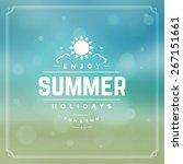summer holidays background.... | Shutterstock .eps vector #267151661