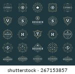 set luxury logos template... | Shutterstock .eps vector #267153857