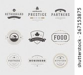 Retro Vintage Insignias or Logotypes set. Vector design elements, business signs, logos, identity, labels, badges, apparel, shirts, ribbons, stickers and other branding objects.   Shutterstock vector #267153875
