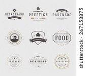 retro vintage insignias or... | Shutterstock .eps vector #267153875