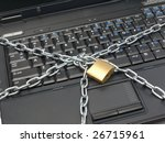 closeup of laptop keyboard... | Shutterstock . vector #26715961