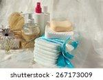 hygiene set for a baby  liquid... | Shutterstock . vector #267173009