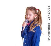 young girl with microphone | Shutterstock . vector #26717716