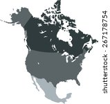 north america map | Shutterstock .eps vector #267178754