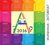 colorful calendar for the new... | Shutterstock .eps vector #267180167