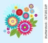 vector flowers background  ... | Shutterstock .eps vector #267181169