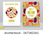 menu cards template for vegan... | Shutterstock .eps vector #267182261