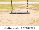 empty swing on children... | Shutterstock . vector #267189929