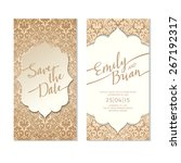 save the date card template.... | Shutterstock .eps vector #267192317
