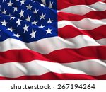 3d illustration of american old ... | Shutterstock . vector #267194264