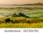 landscape in tuscany | Shutterstock . vector #267201701