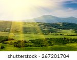 landscape in tuscany | Shutterstock . vector #267201704