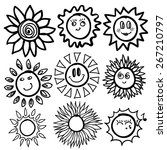 sun icon. vector illustration....   Shutterstock .eps vector #267210797