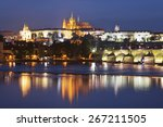 view of prague castle during... | Shutterstock . vector #267211505