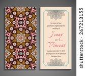 card or invitation. vintage... | Shutterstock .eps vector #267213155