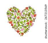 floral heart | Shutterstock .eps vector #267213569