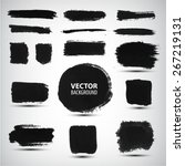 vector set of ink brush strokes | Shutterstock .eps vector #267219131