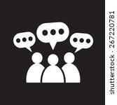 people speech bubble icon   Shutterstock .eps vector #267220781
