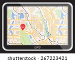 global positioning system ... | Shutterstock .eps vector #267223421