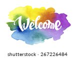 Welcome Hand Drawn Lettering...