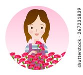 carnation icon mother's day | Shutterstock .eps vector #267231839
