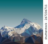 mountain low poly vector | Shutterstock .eps vector #267236711