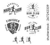 set of vintage running club... | Shutterstock .eps vector #267242339