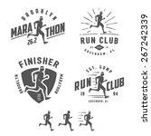 set of vintage running club... | Shutterstock .eps vector #267242339