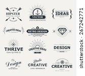 vintage vector design elements. ... | Shutterstock .eps vector #267242771