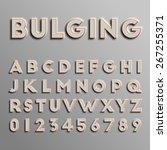 realistic 3d font  vector | Shutterstock .eps vector #267255371