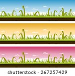 grass and lawn landscape set ...