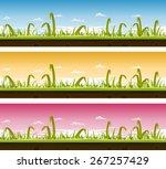 grass and lawn landscape set ...