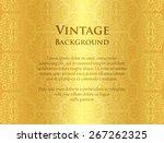 luxury golden background with... | Shutterstock .eps vector #267262325