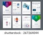 template. vector brochure... | Shutterstock .eps vector #267264044