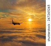 Airplane Flight Above Stratum...