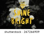 shine bright typography poster... | Shutterstock . vector #267266909